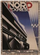 Vintage French railway poster -  Nord express (1927)